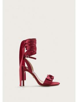 Satinierte Sandale Mit Schleife by Mango
