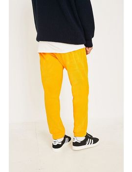 Champion   Pantalon De Survêtement En Velours Jaune by Champion