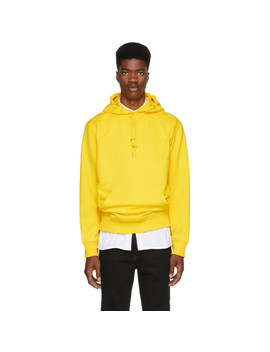 Pull à Capuche Jaune New York Taxi by Helmut Lang