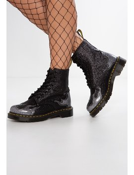 1460 Pascal Flame Glitter   Cowboy /Bikerstiefelette by Dr. Martens