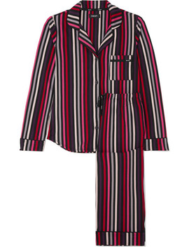 City Striped Stretch Jersey Pajama Set by Dkny