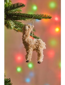 Colorful Llama Christmas Ornament by Urban Outfitters
