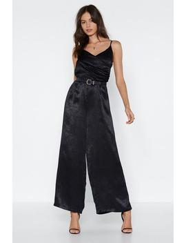 Wide Leg To Differ Satin Jumpsuit by Nasty Gal