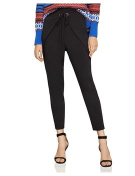 Wrap Detail Tapered Pants by Bcbgmaxazria