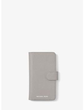 Saffiano Leather Folio Case For I Phone X by Michael Michael Kors