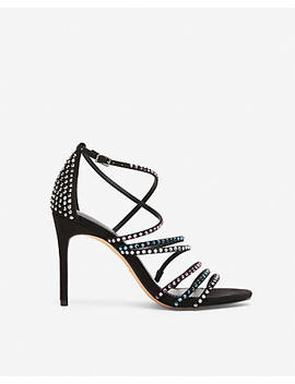 Multi Stone Strappy Heeled Sandals by Express