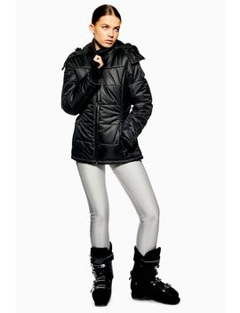 **Black Hooded Jacket By Topshop Sno by Topshop
