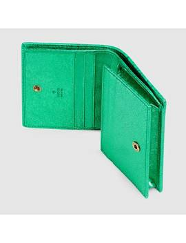 Laminated Leather Card Case by Gucci