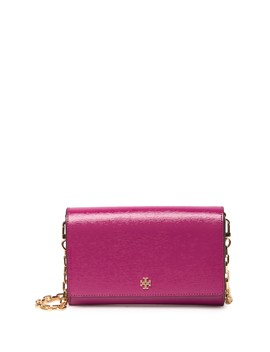 Robinson Patent Leather Chain Wallet by Tory Burch