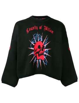 Logo Round Neck Sweater by Marcelo Burlon County Of Milan