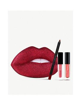 Festive Red Glitter Lip Tin by Huda Beauty
