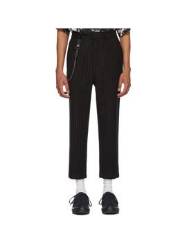 Black Pinstriped Sid Trousers by Ksubi