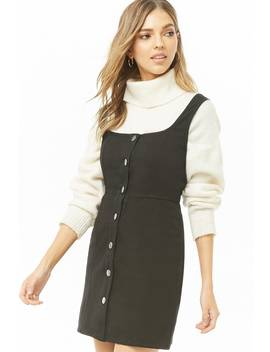 Button Front Square Neck Dress by Forever 21