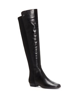 Karita Leather Block Heel Over The Knee Boots by Vince Camuto