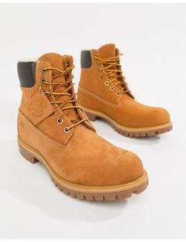 Timberland 6 Inch Premium Boots With Faux Fur Lining by Timberland