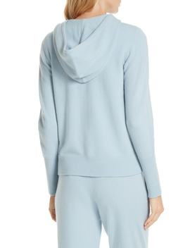 Cashmere Blend Zip Front Hoodie by Nordstrom Signature