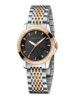 Women's Swiss G Timeless Two Tone Stainless Steel Bracelet Watch 27mm Ya126512 by Gucci