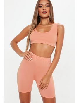 Terracotta Cycling Shorts & Top Co Ord by Missguided