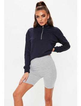 petite-grey-cycle-short by missguided