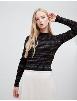 Gestuz Multa Glitter Stripe Pullover by Gestuz