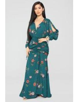 You Are Mine Maxi Dress   Emerald by Fashion Nova