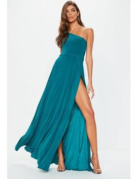 Teal Twist Slinky Maxi Dress by Missguided