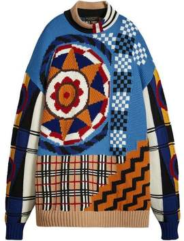 Graphic Intarsia Sweater by Burberry