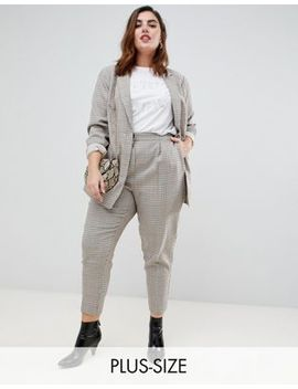 New Look Curve Check Pull On Trouser by New Look Curve