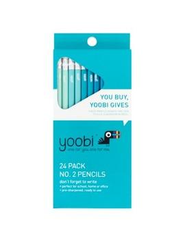 24ct #2 Pencils Pre Sharpened 2mm   Aqua Ombre   Yoobi™ by Yoobi
