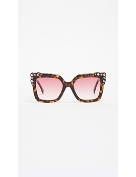 Thick Frame Square Sunglasses by Fendi