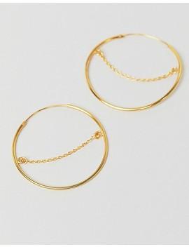 Pendientes De Aro De Plata De Ley Chapada En Oro Con Detalle De Cadena De Asos Design by Asos