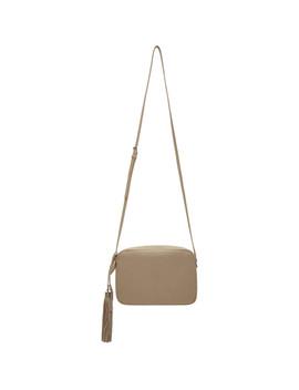 Taupe Medium Embossed Lou Camera Bag by Saint Laurent