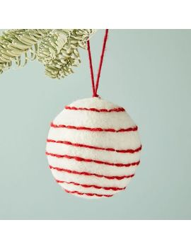 Felt Ball Ornaments by West Elm