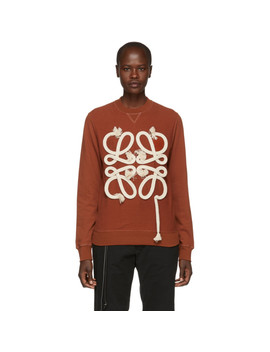 Orange Rope Anagram Sweatshirt by Loewe