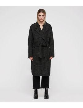 Lara Check Ilia Coat by Allsaints