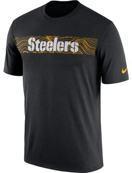 Nike Men's Pittsburgh Steelers Sideline Seismic Legend Performance Black T Shirt by Nike