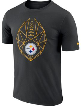 Nike Men's Pittsburgh Steelers Icon Performance Black T Shirt by Nike