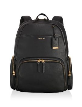 Calais Pebbled Leather Backpack by Tumi