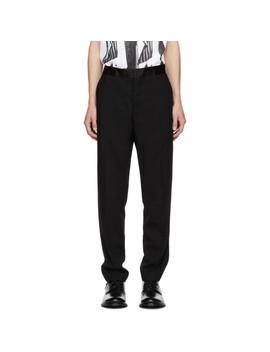 Pantalon En Laine Noir by Ann Demeulemeester