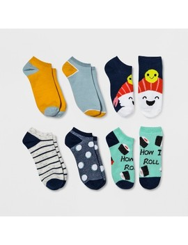 Women's 6pk Sushi Low Cut Casual Socks   Xhilaration™ Colors May Vary One Size by Xhilaration
