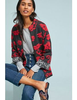 Floral Intarsia Jacket by Rosie Neira