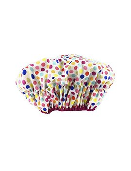 Betty Dain Fashionista Collection Mold Resistant Lined Shower Cap, Deco Dots by Betty Dain