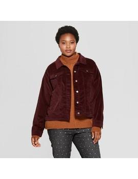 Women's Plus Size Freeborn Velvet Jacket   Universal Thread™ Burgundy by Universal Thread