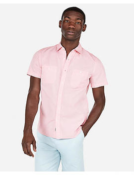Solid Short Sleeve Shirt by Express