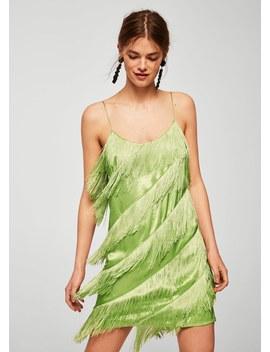 Kleid Mit Fransen by Mango