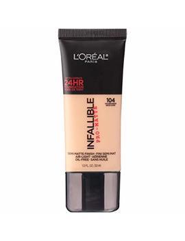 L'oréal Paris Makeup Infallible Pro Matte Foundation, 104 Golden Beige, 1 Fl. Oz. by L'oreal Paris
