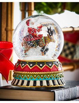 Olde Time Santa Snow Globe by Mac Kenzie Childs
