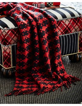 Houndstooth Throw Blanket by Mac Kenzie Childs