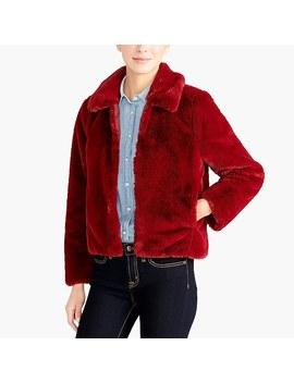 Faux Fur Cropped Jacket by J.Crew