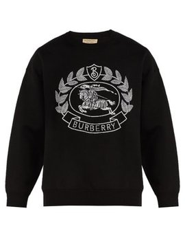 Crest Jacquard Sweatshirt by Burberry